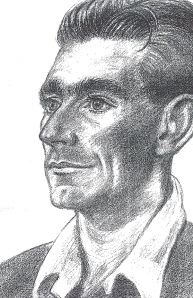 Pencil sketch of Billy by one of his colleagues while serving in India.