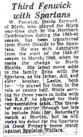 Blyth News report on Billy's return for the Spartans Reserves